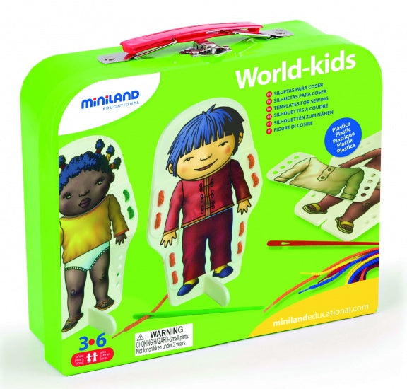 World-Kids Aankleedfiguren Rijgspel