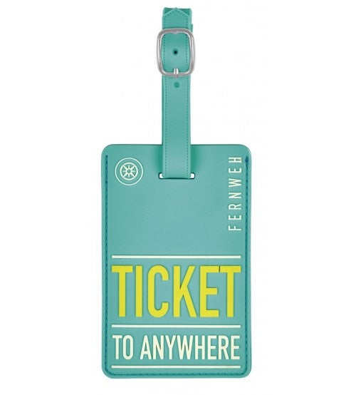 kofferlabel Ticket to Anywhere11 x 7 cm