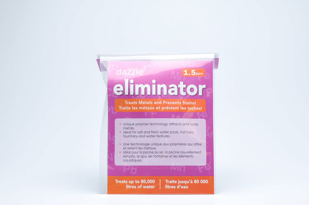 Removes metals before they stain - Eliminator 1.5PPM