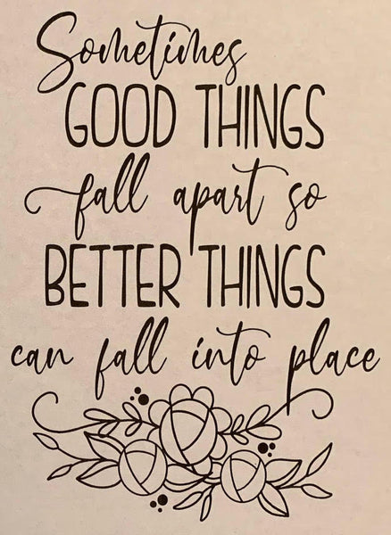 Better Things Fall Into Place