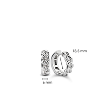 Load image into Gallery viewer, TiSento Hoop Earrings 7832SI