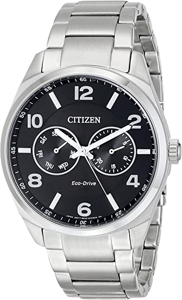 Citizen Gents steel multi dial Eco Drive watch