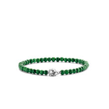 Load image into Gallery viewer, Ti Sento green beaded bracelet 2908MA