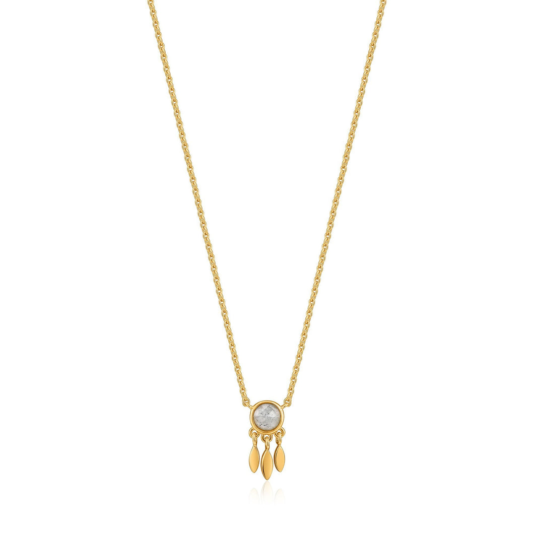 Gold Midnight Fringe Necklace N026-01G