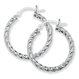 Sterling silver hoop earrings SE092C