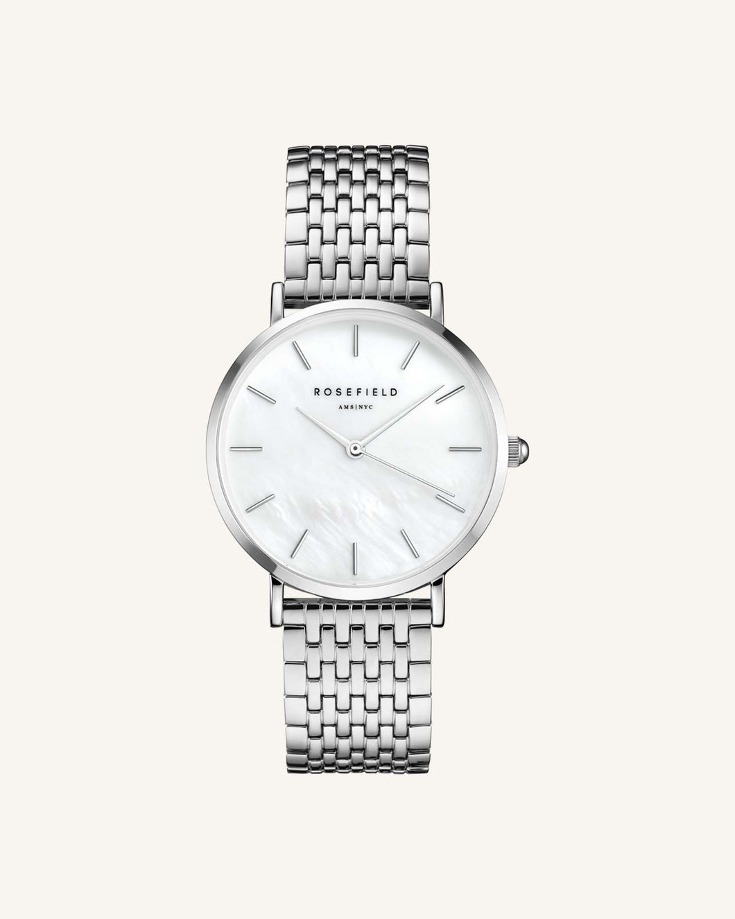 The Upper East Side White Silver 33mm
