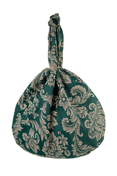 Sicilian Furoshiki Bag green damasco