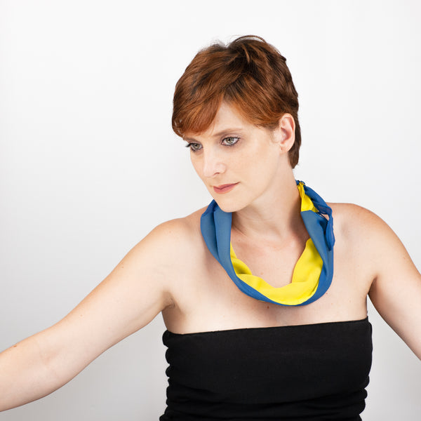 Silk Multi-Purpose Band - yellow/blue
