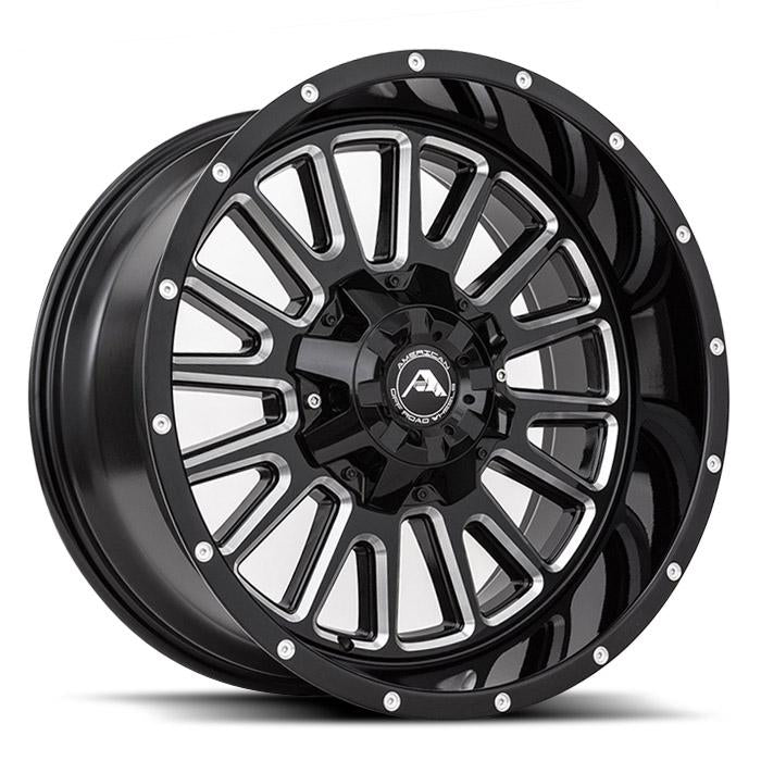 <b>American Off-Road</b> A105 -<br> Black Milled