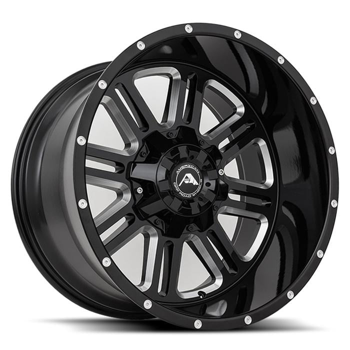 <b>American Off-Road</b> A106 -<br> Black Milled
