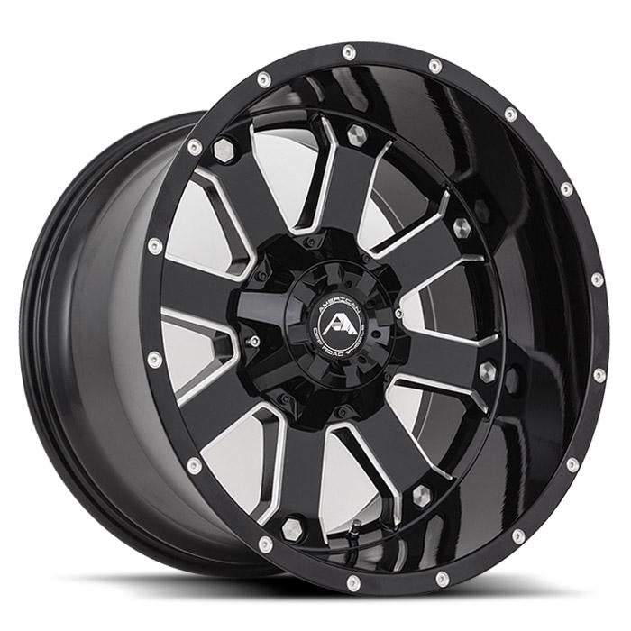 <b>American Off-Road</b> A108 -<br> Black Milled