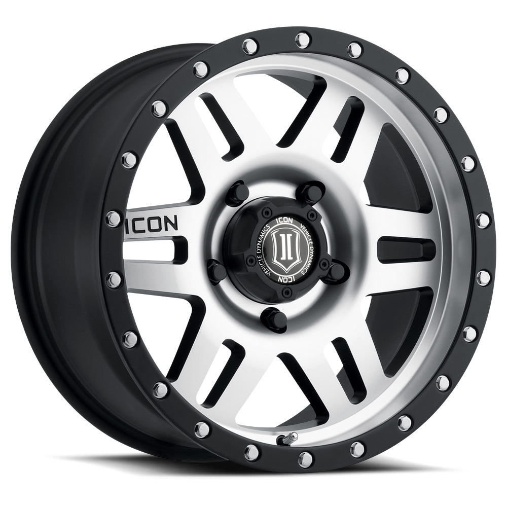 <b>Icon Alloys</b> Six Speed -<br> Satin Black and Machined