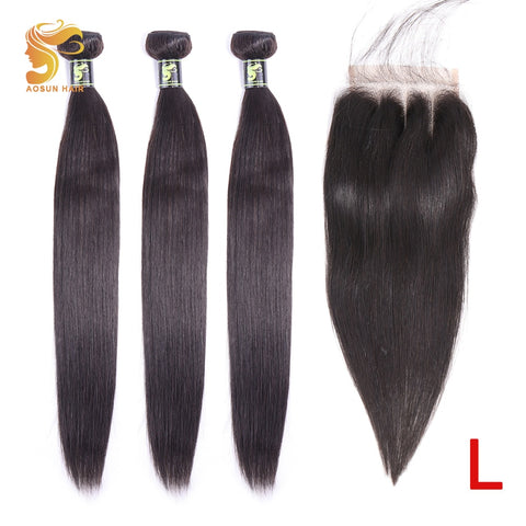 HAIR Brazilian Hair Weave Bundles Straight