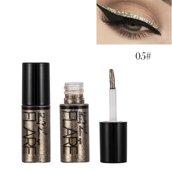 5 Color Metallic Shiny Eye shadow Glitter Liquid Eyeliner