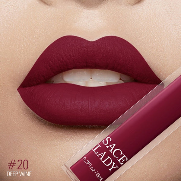 LADY 19 Color Waterproof Matte Lipstick Long Lasting