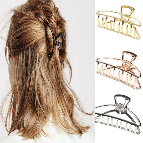 Women Girls Geometric Hair Claw Clamps