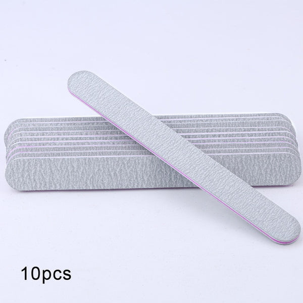 5 pcs/lot Sandpaper Nail File Lime 100/180 Double Side