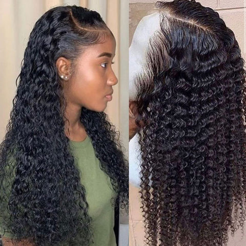 water wave wig short curly lace front