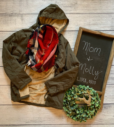Olive Fleece Lined Jacket