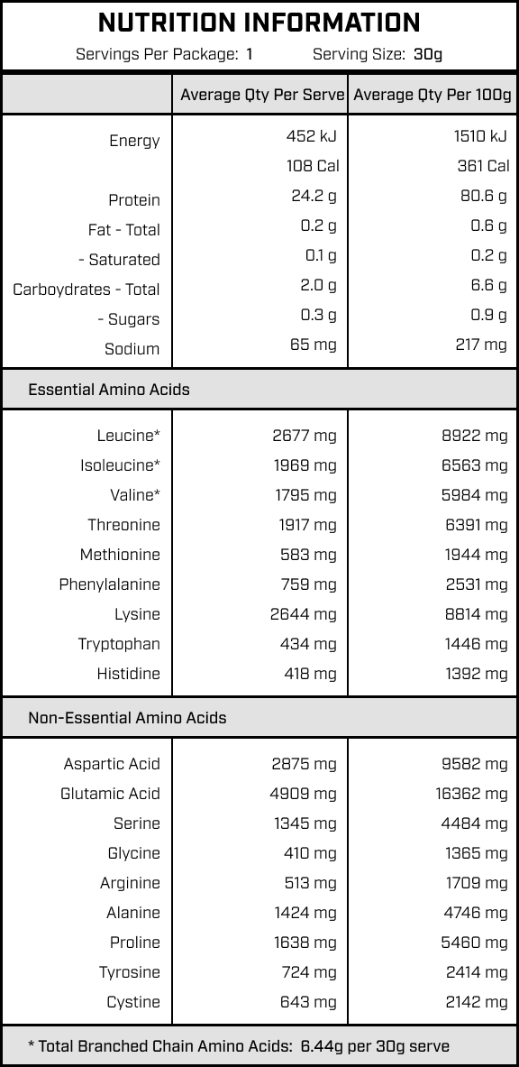 whey protein isolate in taro milk tea flavour nutrition information for single serve sample