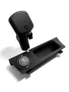 BMW E30 Center Console Phone Mount and Dual USB Charger (Scosche XL Magic Mount)