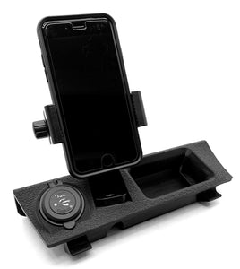 BMW E30 Center Console Phone Mount and Dual USB Charger (Universal Clamp)