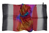 Artisan Hand Dyed Batik Silk Scarf (Gray and Rainbow Joy)