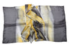 Artisan Hand Dyed Batik Silk Scarf (Gray and Yellow)