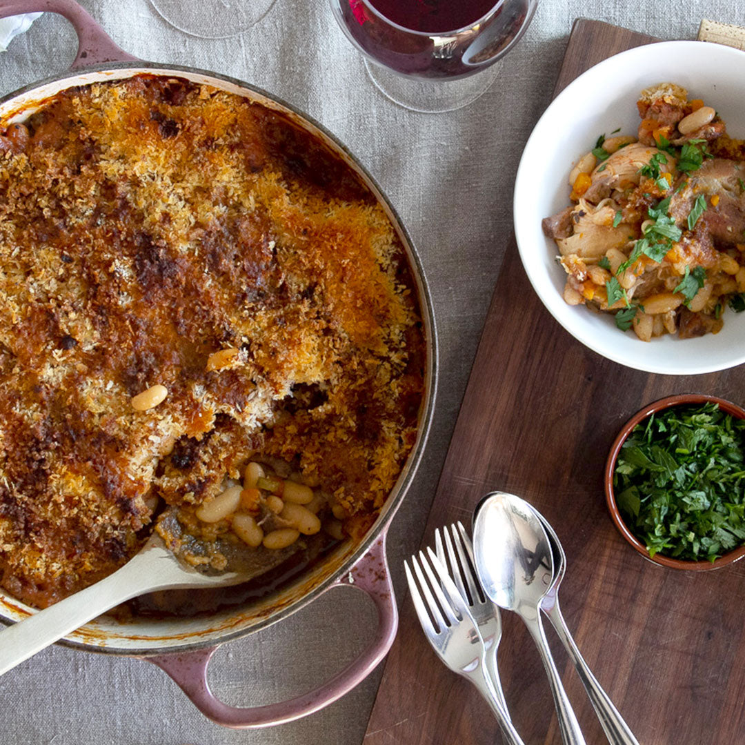 Cassoulet recipe with Primary Beans Michelet beans