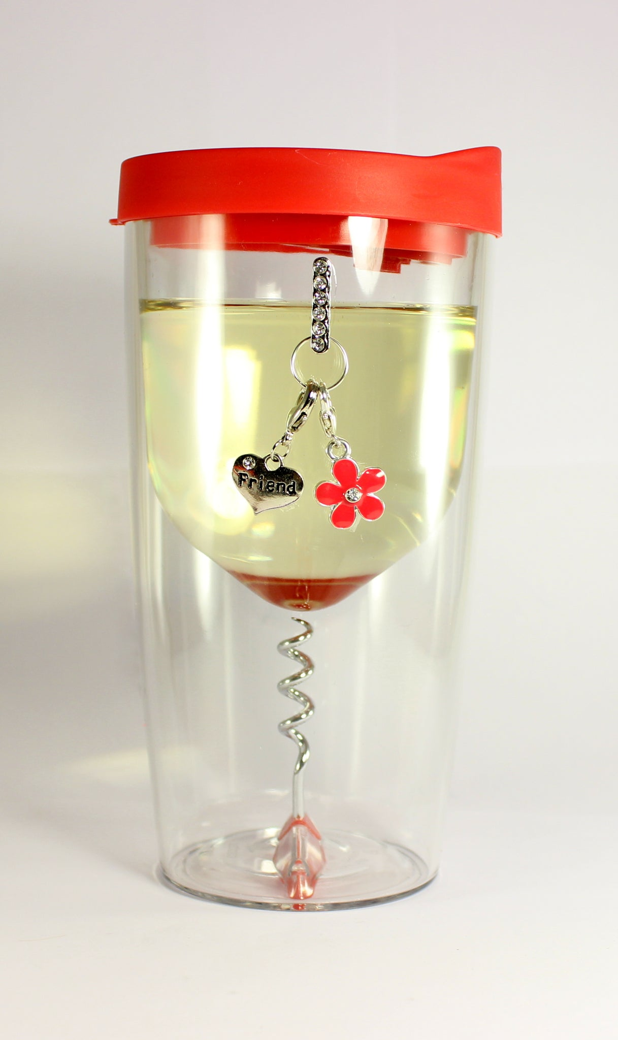 Sparkle Wine Sippy Cups-Red