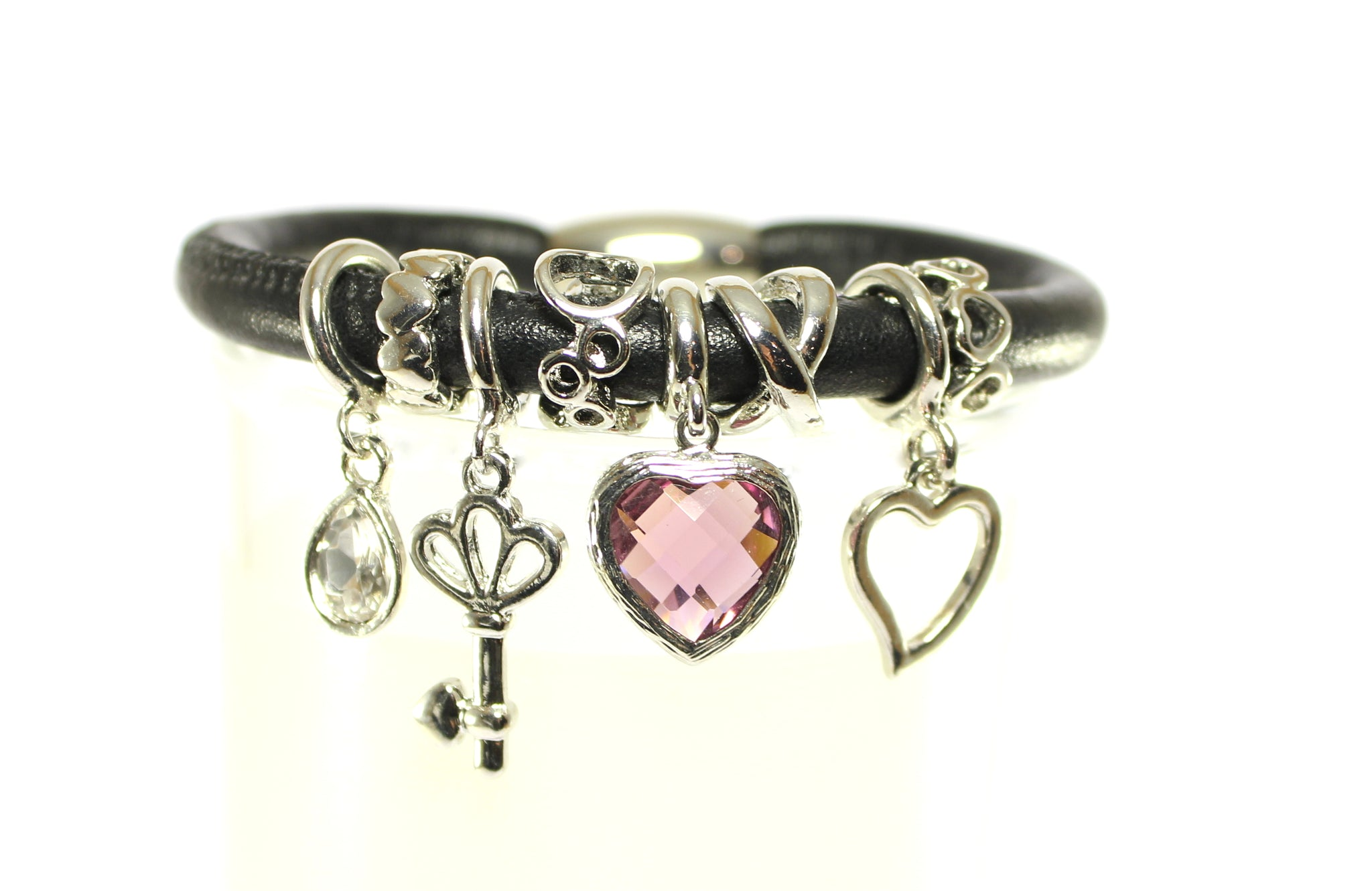 Sparkle Chic Bracelet-Key to My Heart-Purple