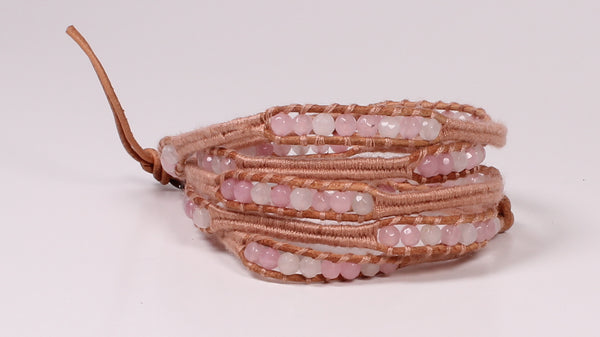 Shades of Pink Crystal Wrap Bracelet