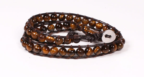 Tiger Eye Wrap Bracelet