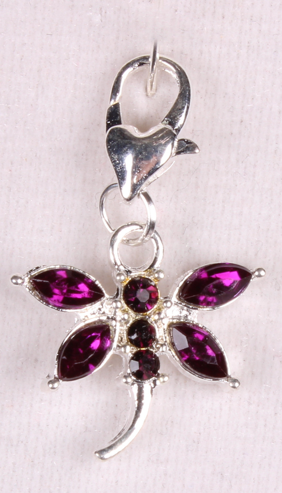 Dark Purple Dragonfly Sparkle