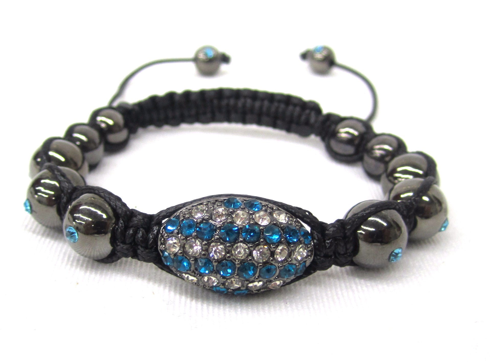 Teal Blue Dream Shamballa Bracelet