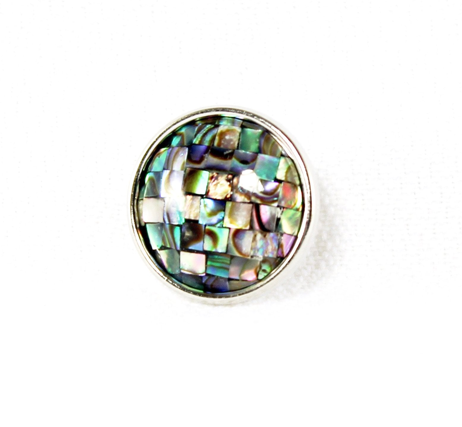 Sparkle Snap-Mosaic Abalone Shell