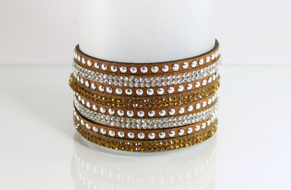 Amber Brown Rhinestone Wrap