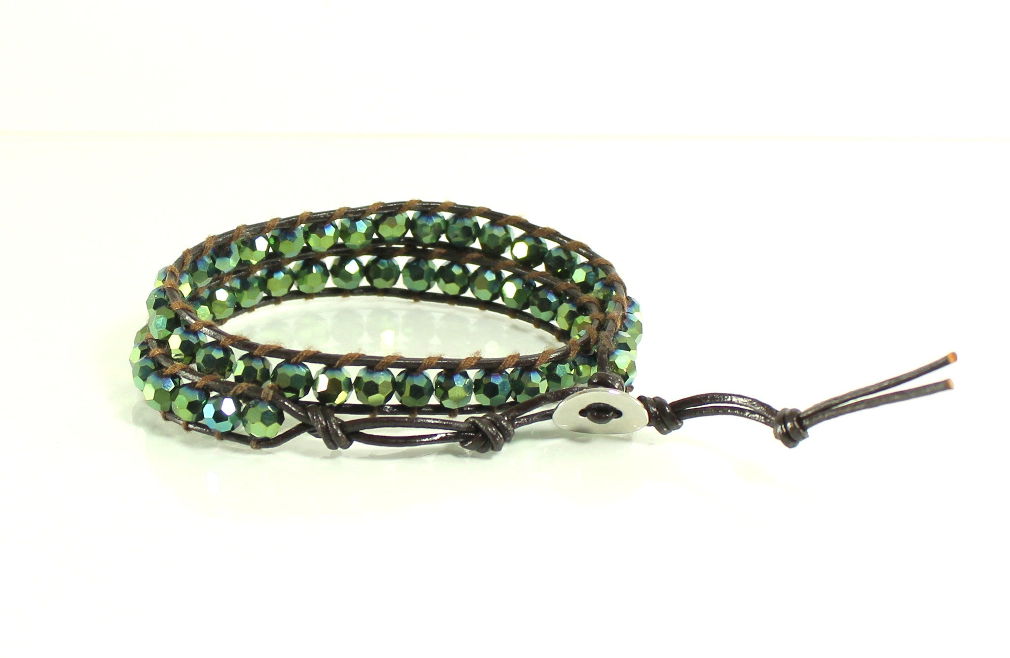 Green Fantasy Leather Wrap