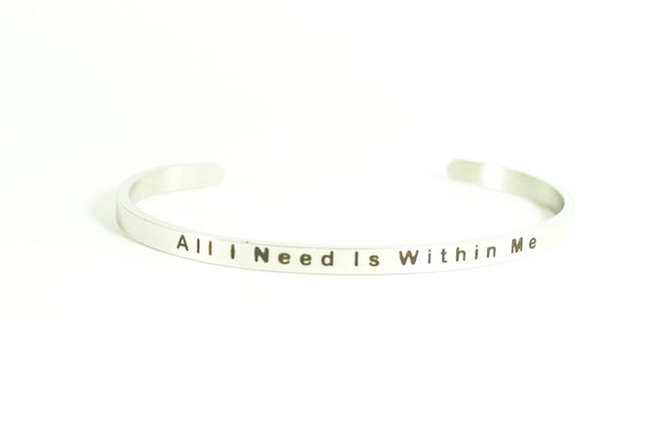 Love Your Life Bracelet-All I Need Is Within Me