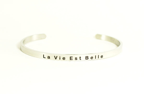 Love Your Life Bracelet-La Vie Est Belle (Life is Beautiful)