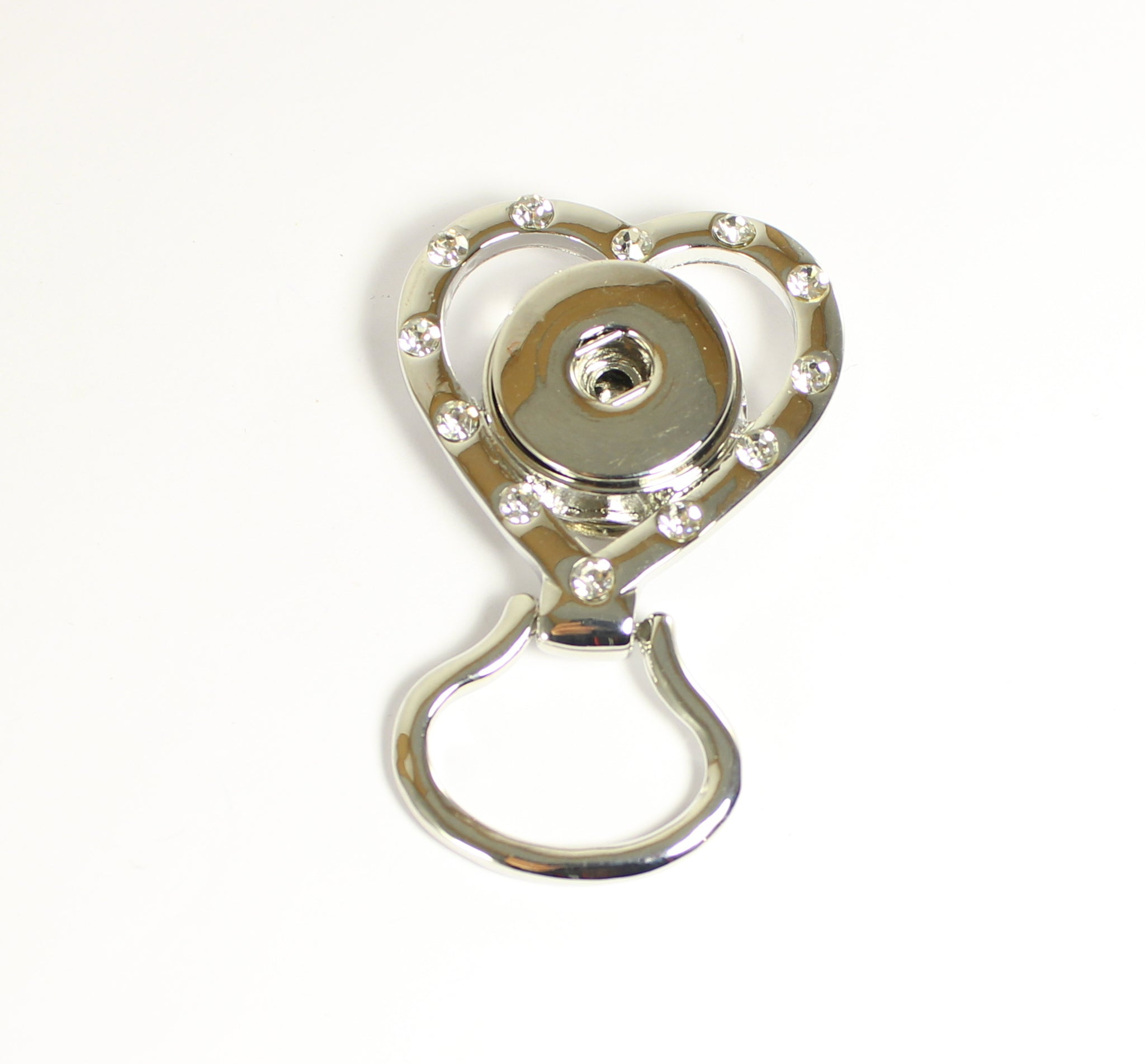 Sparkle Snap Heart Shimmer Eyeglass Holder