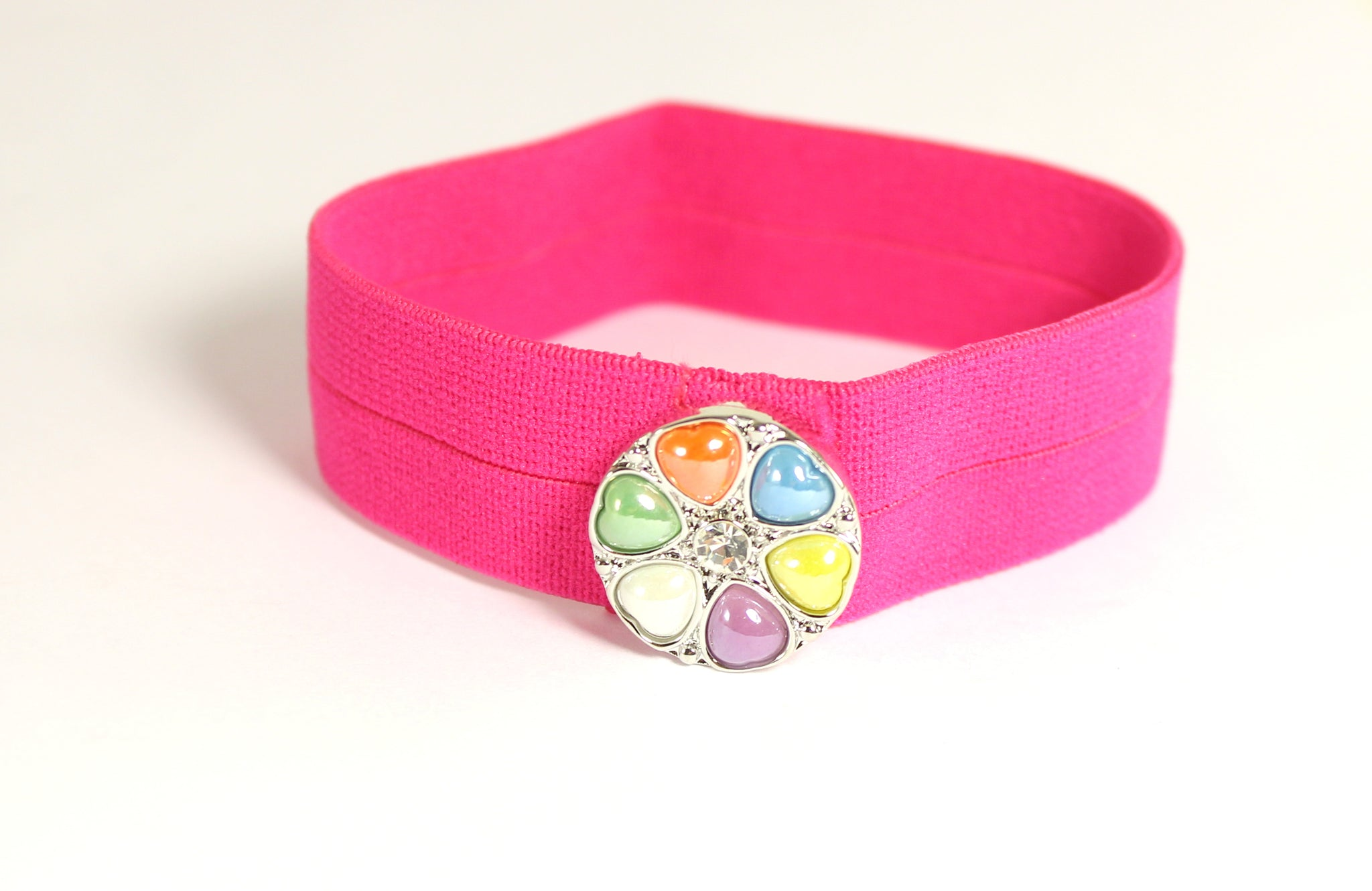 Sparkle Snap Hot Pink Thick Hairband