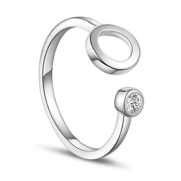 Circle of Love Sterling Silver Ring-Size 7