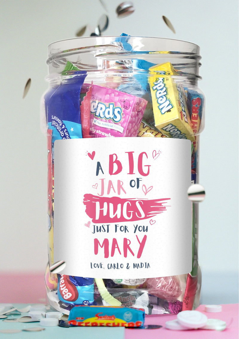 Jar of Hugs pink