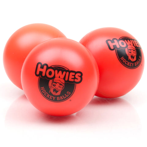 3x Hockeyball Howies orange Inlinehockey Ball 75mm