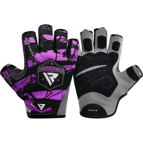 RDX F11 Bobybuilding Gym Handschuhe Sumblimation Purple S-L