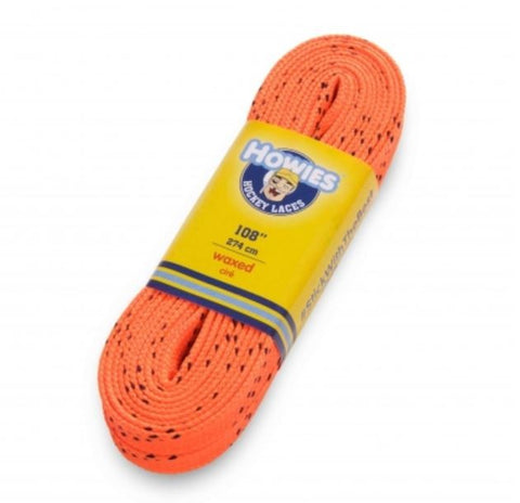 Howies colored Wax Molded Tip laces Schnürsenkel orange