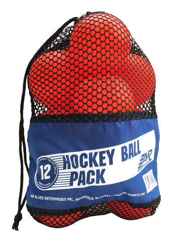 12x Street- Inlinehockey Ball - Streethockey Ball orange mittel