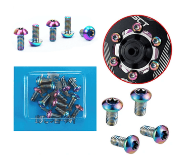 12Pcs M5x10mm Steel Oil Slick Rotor Bolts