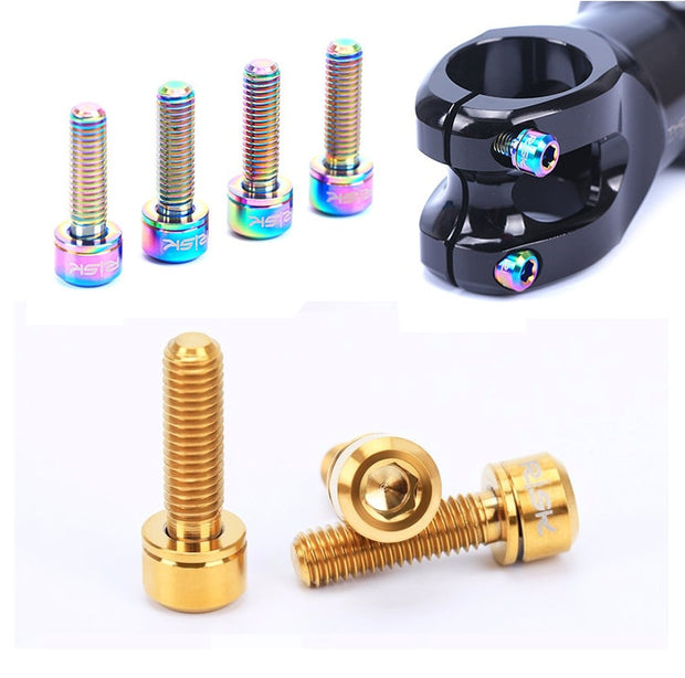 6Pcs M5 Titanium Stem Bolts